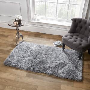 Sienna Soft, Shaggy, Thick Pile Rug 120 x 170cm - Silver