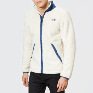The North Face Men's Campshire Full Zip Pile Fleece - Vintage White/Shady Blue