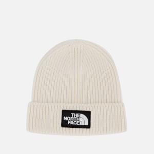 The North Face TNF Logo Box Cuffed Beanie - Vintage White