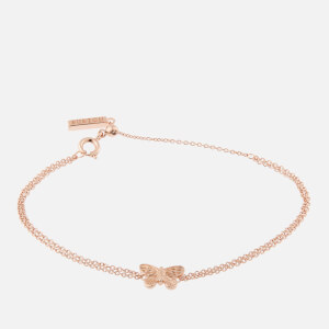 Olivia Burton Women's 3D Butterfly Chain Bracelet - Rose Gold