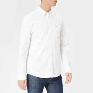 Jack Wills Men's Wadsworth Classic Fit Oxford Shirt - White