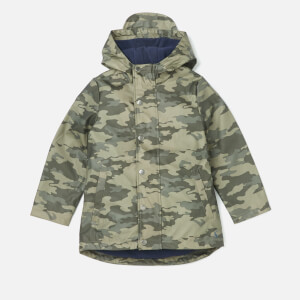 Joules Boys' Dermot Waterproof Coat - Olive Camo