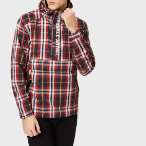 Marshall Artist Men's Check Half Zip Jacket - Red Navy Check