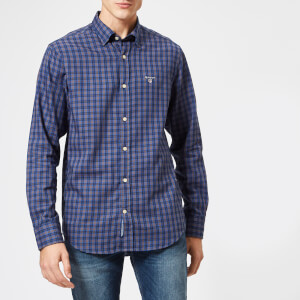 GANT Men's Indigo Twill Check Shirt - Rain Drum