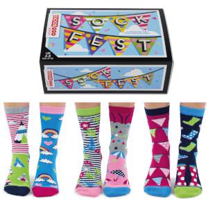 United Oddsocks Women's Sock Fest Socks Gift Set