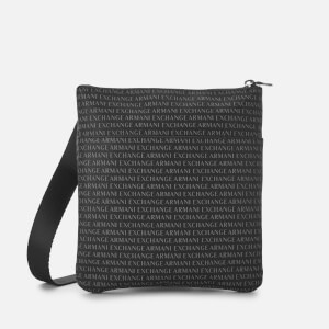 Armani Exchange Men's All Over Print Cross Body Bag - Black