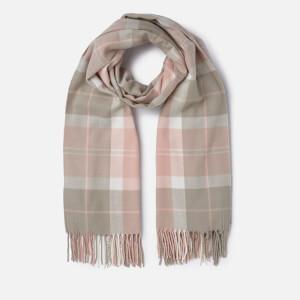 Barbour Women's Hailes Tartan Wrap Scarf - Pink/Grey/Tartan