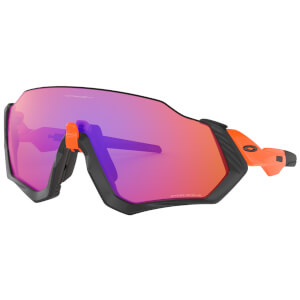 Oakley Flight Jacket サングラス- Neon Orange/Prizm Trail