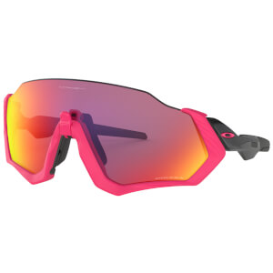 Oakley Flight Jacket Sunglasses - Neon Pink/Prizm Road