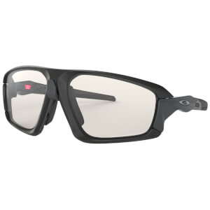 Oakley Field Jacket Photochromic Sunglasses - Matte Black/Clear Black