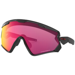 Oakley Wind Jacket 2.0 Sonnenbrille - Polished Black / Prizm Road