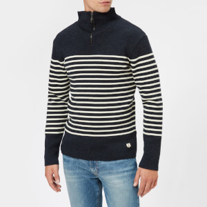 Armor Lux Men's Camionneur Heritage Knitted Jumper - Iroise Chine/Nature