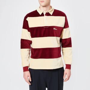 Drôle De Monsieur Men's Velvet Polo Shirt - Burgundy