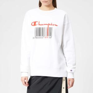 Champion Women's Crew Neck Sweatshirt - White