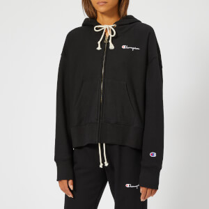 Champion Women's Maxi Hooded Full Zip Sweatshirt - Black