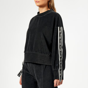 Champion Women's Crew Neck Velour Sweatshirt - Black