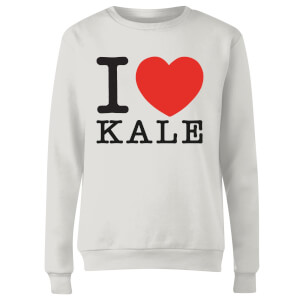 I Heart Kale Women's Sweatshirt - White