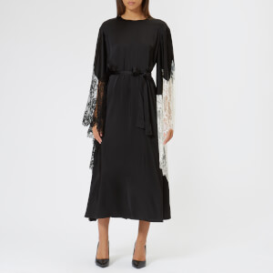 Christopher Kane Women's Lace Trim Satin Dress - Black