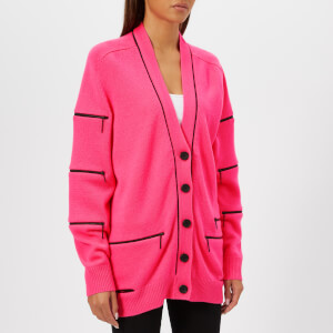 Christopher Kane Women's Cashmere Zip Cardigan - Neon Pink
