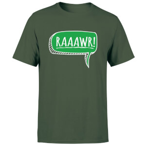 Raaawr Men's T-Shirt - Forest Green