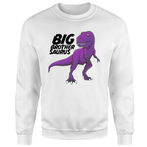 Im A Big Brothersaurus Sweatshirt - White