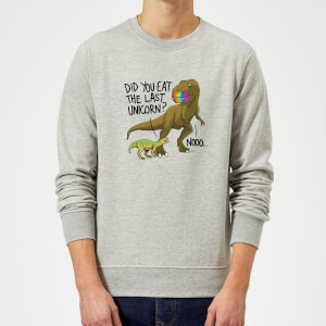 Did You Eat The Last Unicorn? Sweatshirt - Grey