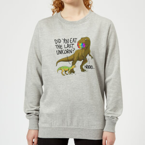 Did You Eat The Last Unicorn? Women's Sweatshirt - Grey