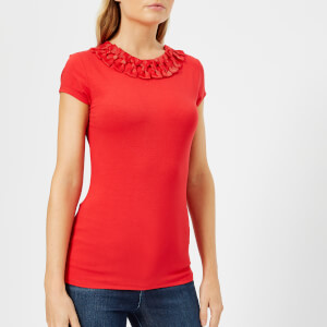 Ted Baker Women's Charre Bow Neck Trim Detail T-Shirt - Red