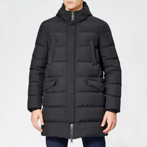 Herno Men's Laminor Gore Tex Long Down Jacket - Black