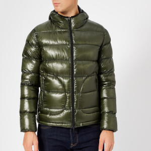 Herno Men's 7 Den Hooded Bomber Jacket - Green
