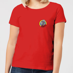 Rainbow Zippy Pocket Frauen T-Shirt - Rot