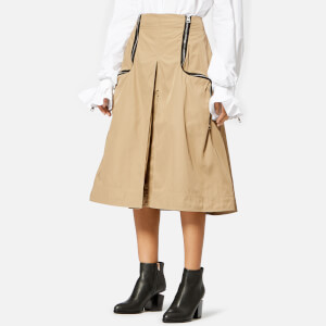 JW Anderson Women's Two Way Zipper Skirt - Cumin