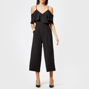 Whistles Women's Camila Wrap Crepe Jumpsuit - Black