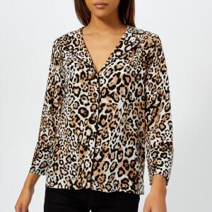 Whistles Women's Animal Print Pyjama Shirt - Multi