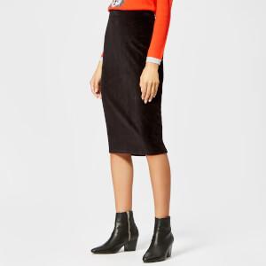 Whistles Women's Velvet Tube Skirt - Black