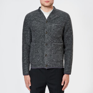 Universal Works Men's Wool Fleece Cardigan - Navy