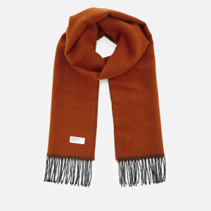 Universal Works Men's Double Sided Scarf - Orange/Brown