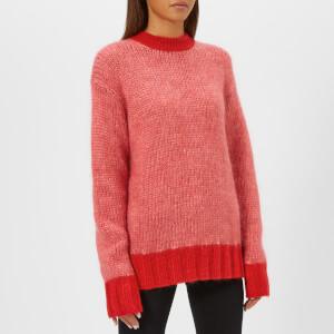 McQ Alexander McQueen Women's Mohair Jumper - Pink Melange