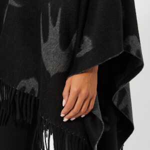 McQ Alexander McQueen Women's Swallow Poncho - Black: Image 4