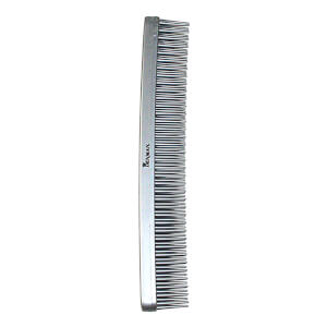 Denman Tame 'n' Tease Three-Row Comb - Silver (175mm)