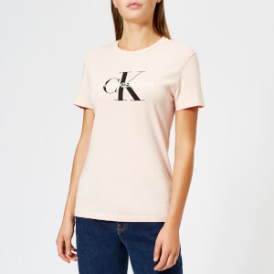 Calvin Klein Women's Monogram Logo Regular Fit T-Shirt - Chintz Rose