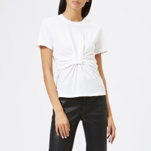 T by Alexander Wang Women's High Twist Jersey T-Shirt with Twist Front Detail - White