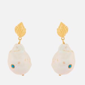 0ab663c6822 Anni Lu Women s Baroque Pearl Shell Earrings - Turquoise