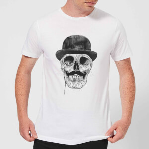 Balazs Solti Monocle Skull Men's T-Shirt - White