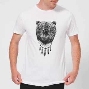 Balazs Solti Dreamcatcher Bear Men's T-Shirt - White