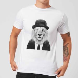 Balazs Solti Monocle Lion Men's T-Shirt - White