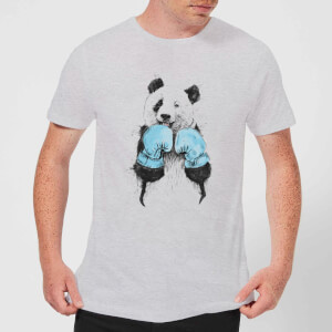 Balazs Solti Boxing Panda Men's T-Shirt - Grey