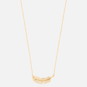 Whistles Women's Feather Pendant Necklace - Gold
