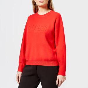 Guess Women's Long Sleeve Audrey Sweatshirt - Red