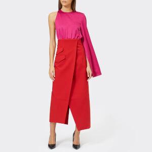 Solace London Women's Marceo Dress - Purple/Dark Red